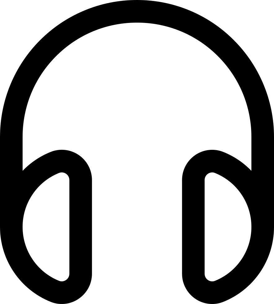 Headphones Outlined Tool