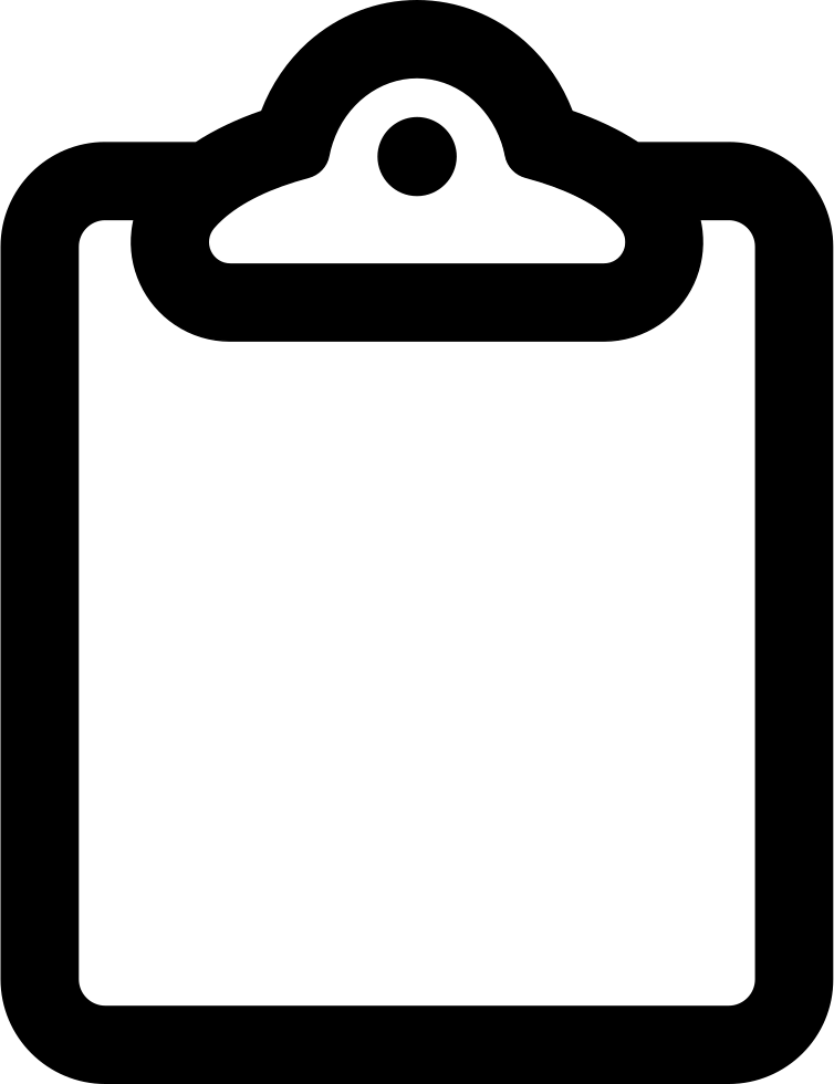 Clipboard Outline