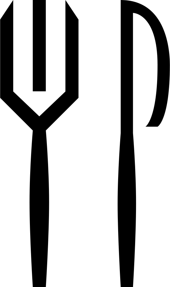 Restaurant Interface Symbol Of Fork And Knife Couple