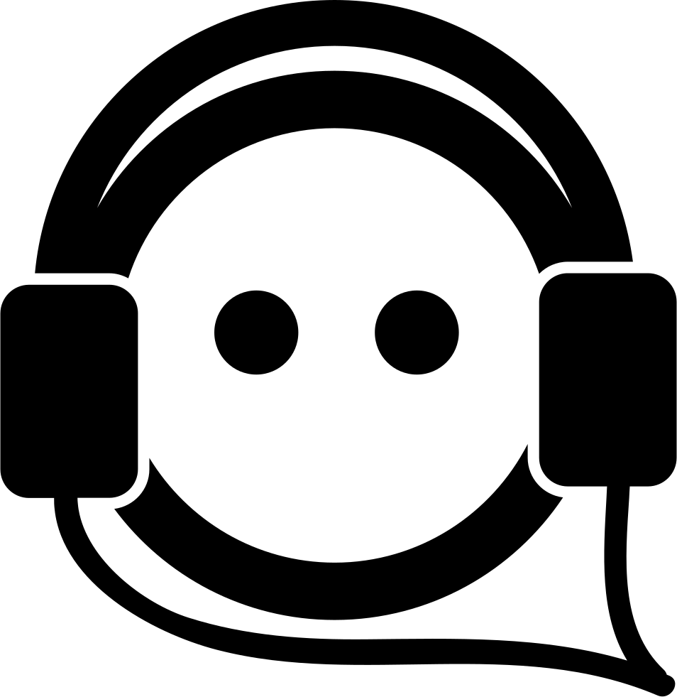 Person Face Listening Music With Auriculars