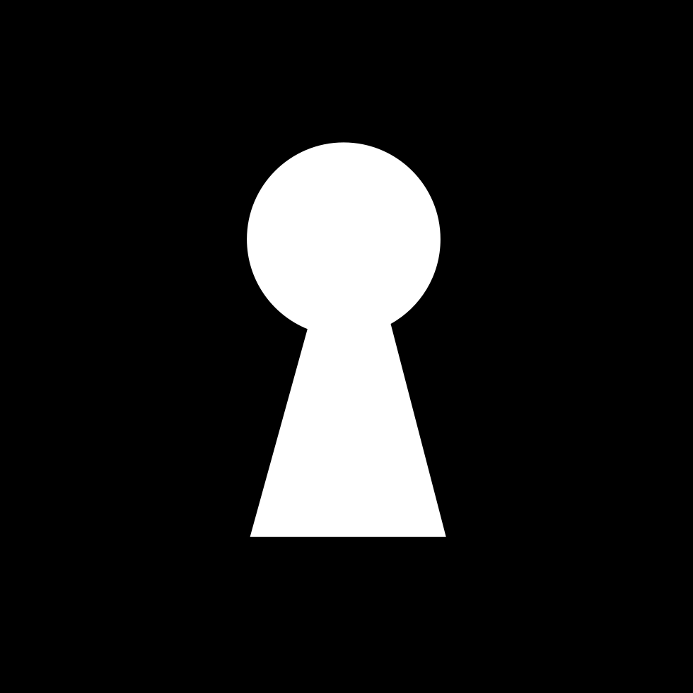 Keyhole Shape In A Black Square