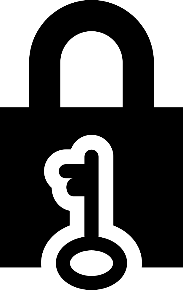 Locked Padlock And Key