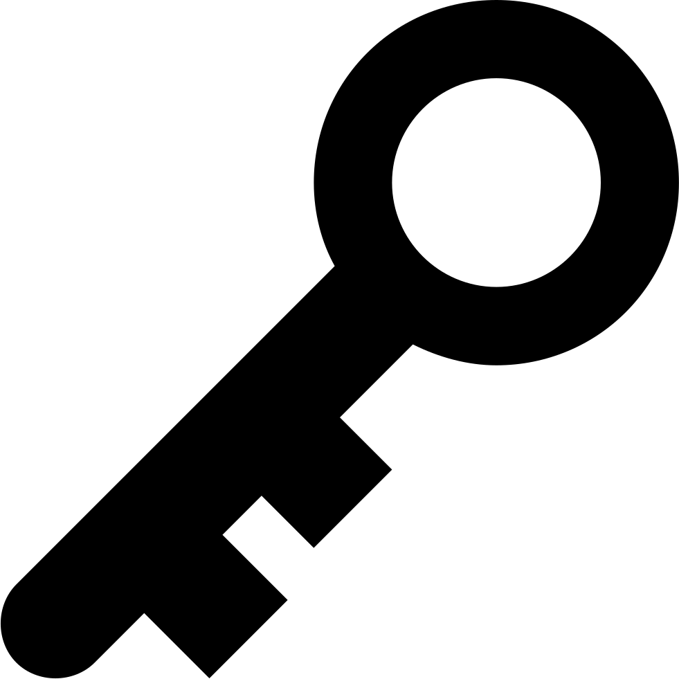 Key Silhouette In Diagonal Position