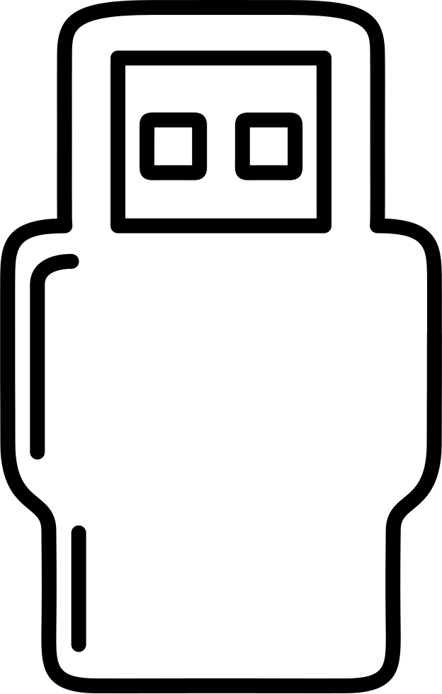 Robot Outline Or Usb Plug