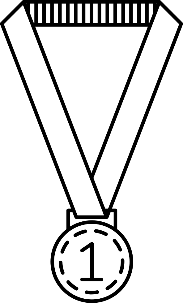 Medal Hanging Of A Ribbon