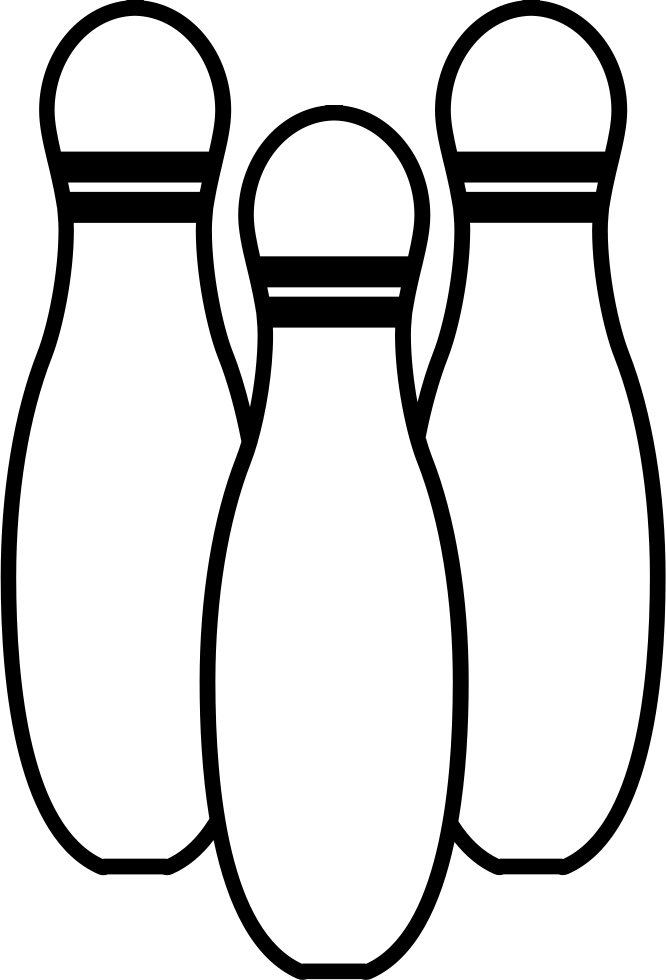 Bowling Pins Variant Outline