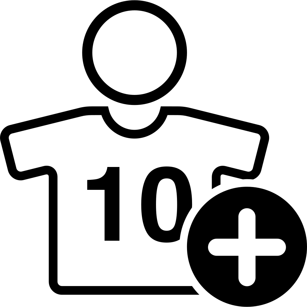Football Player Wearing Jersey Number 10 With Plus Sign
