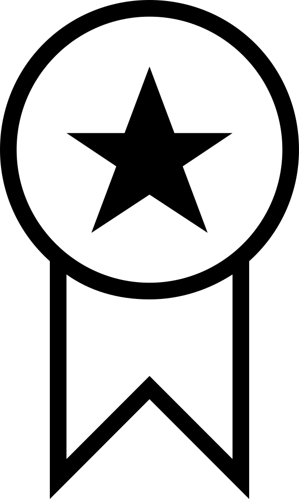 Award Badge With A Star For Sports
