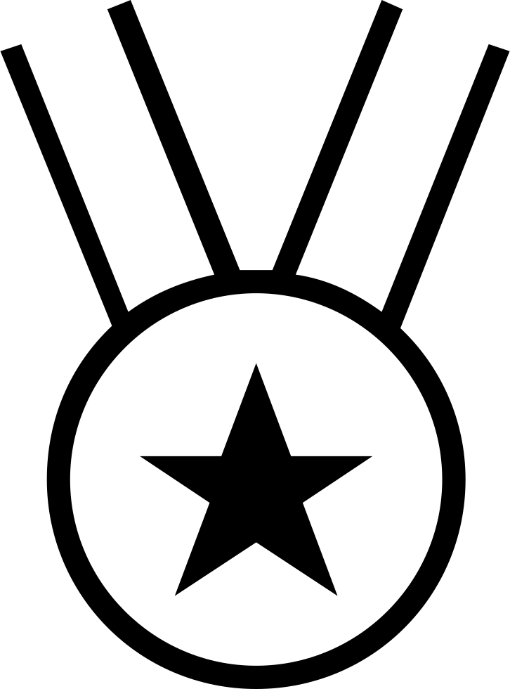 Star Medal Necklace Sportive Symbol