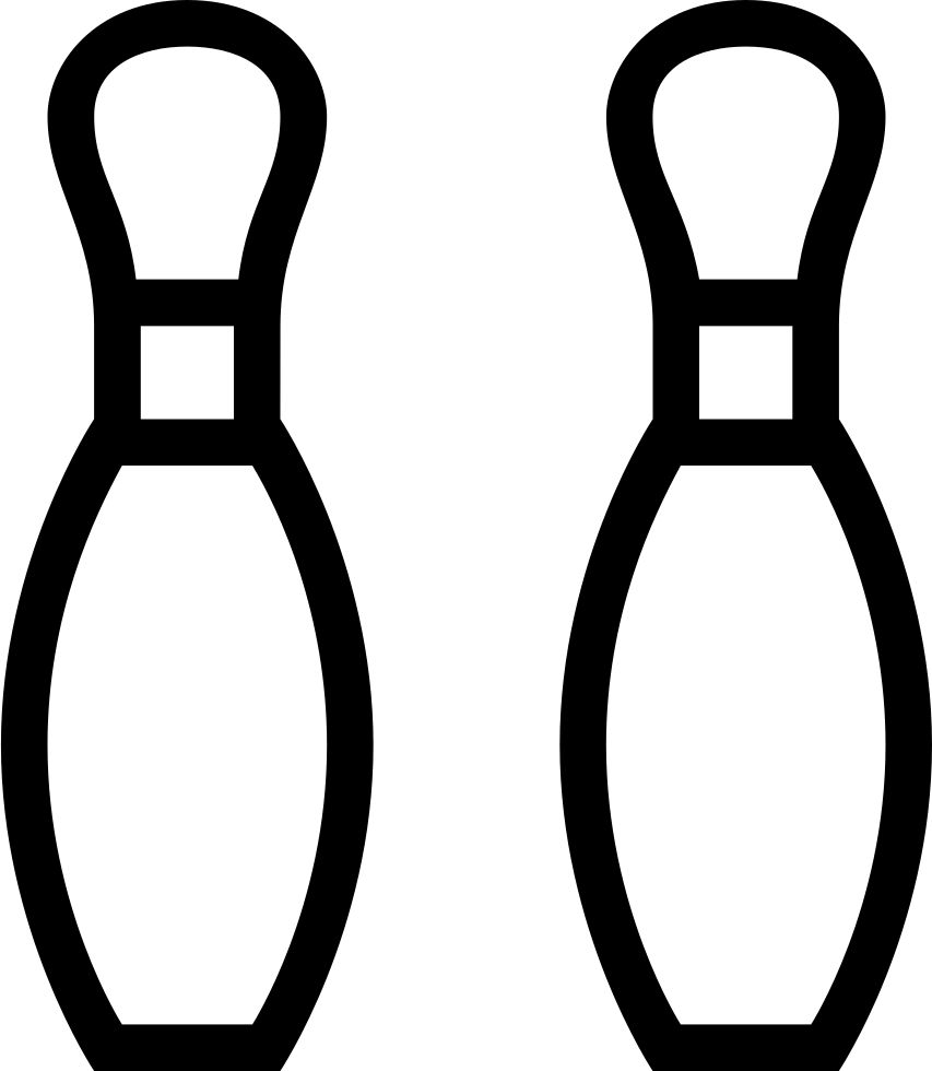 Bowling Pins Outline Svg Png Icon Free Download (#22877 ...