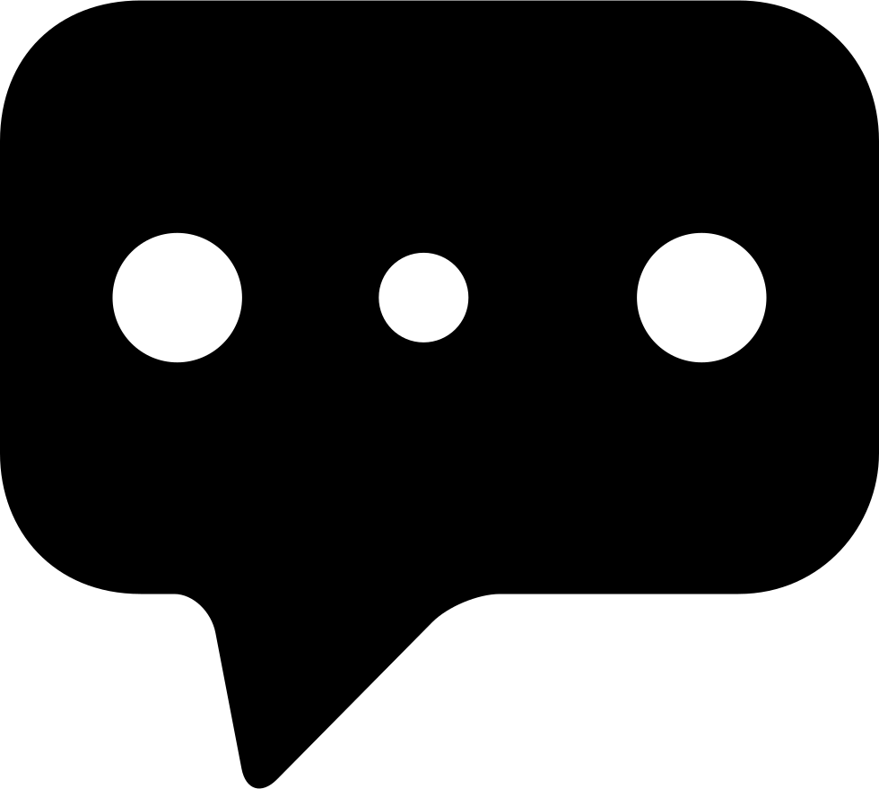Three Dots Black Speech Bubble