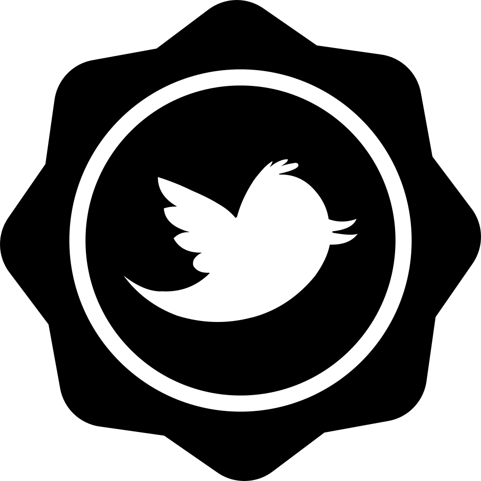 Twitter Logo On Badge