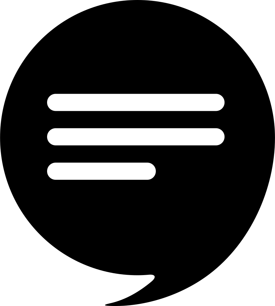 Speech Bubble With Text Inside
