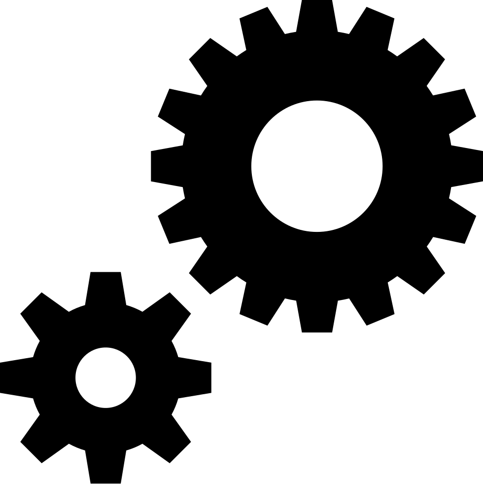 Cogs Gears Preferences Settings Generate Control Options