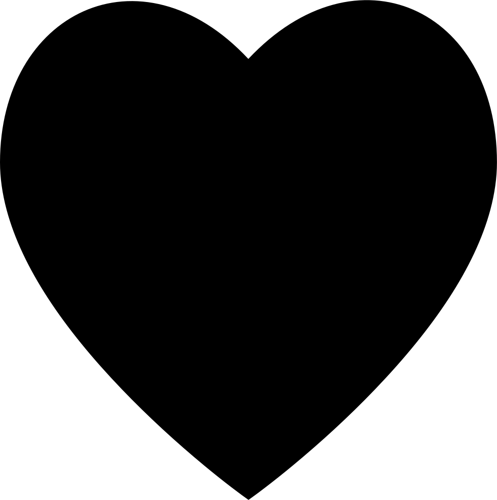 Heart Black Button Symbol Of Interface For Social Likes