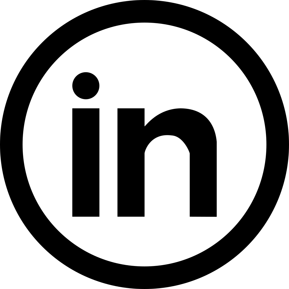 Social Linkedin Circular Button