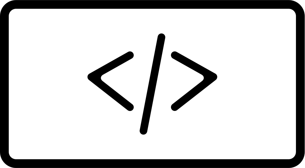 Code Signs In A Rectangle