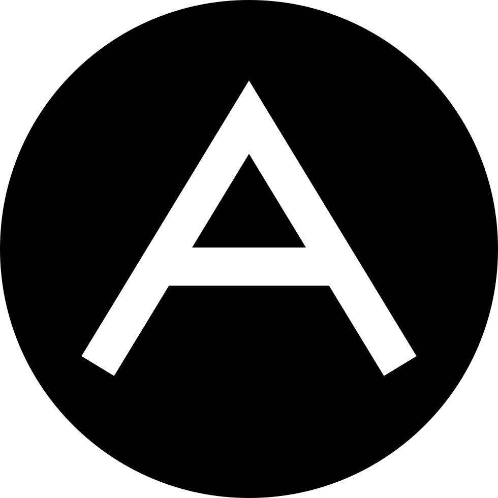 Letter A Logo Inside A Circle