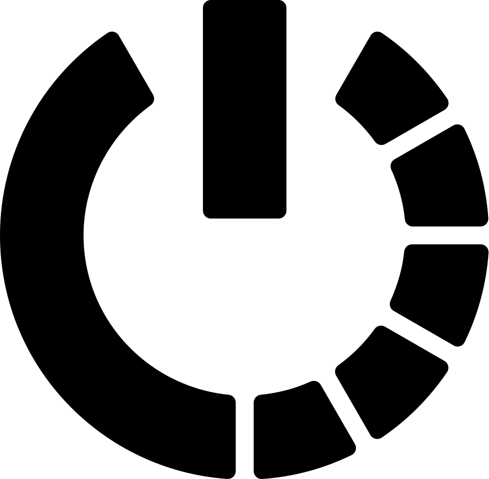 Power Symbol Variant With Half Circle Of Broken Line