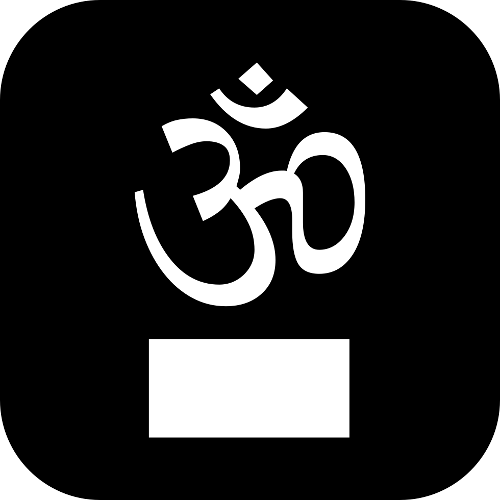 Om On Square Background