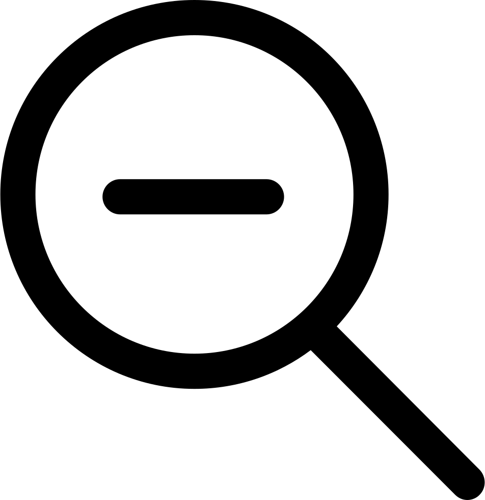 Magnifying Glass Zoom Out
