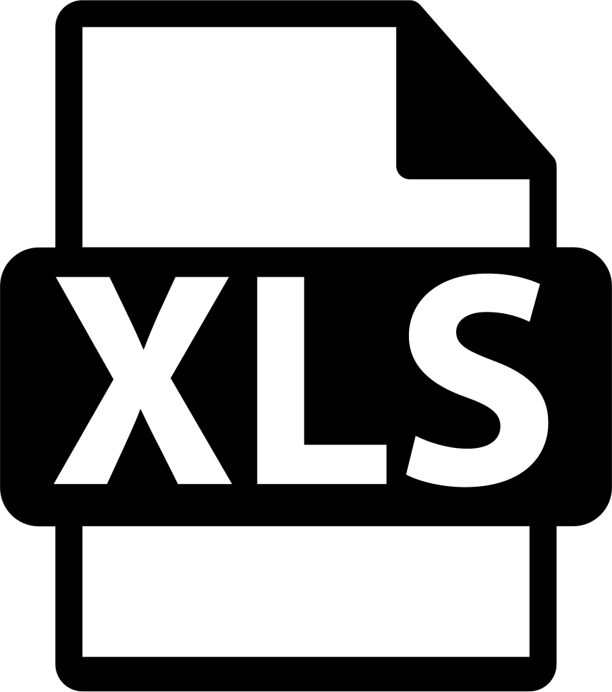 Xls Svg Png Icon Free Download (#261108) - OnlineWebFonts.COM