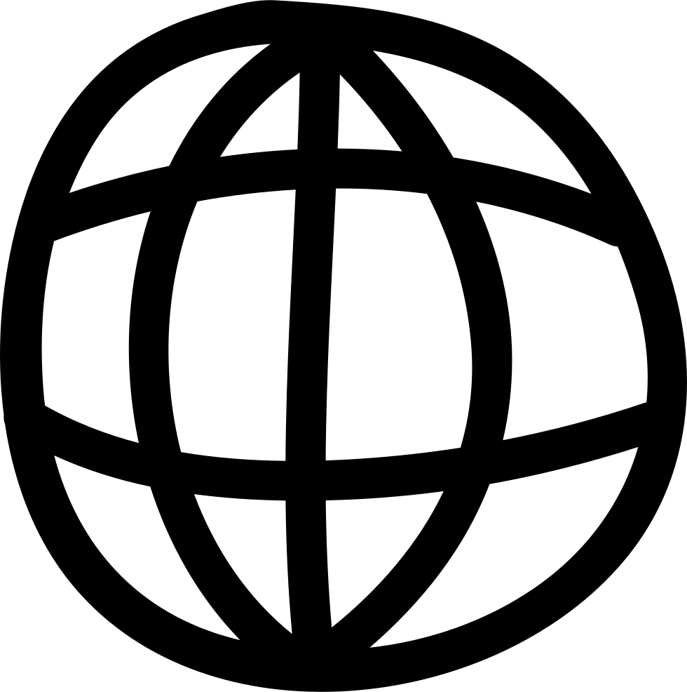 World Grid Hand Drawn Symbol