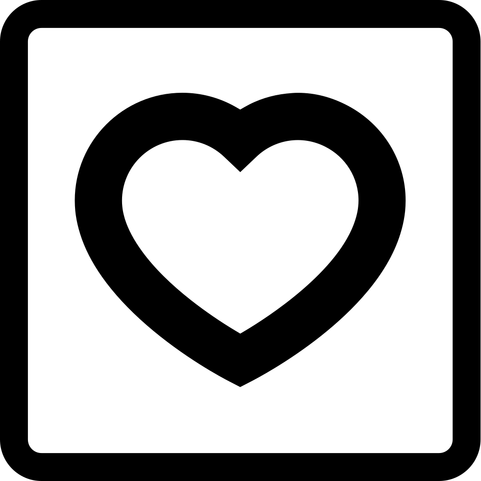 Love Symbol Of A Heart Outline In A Square