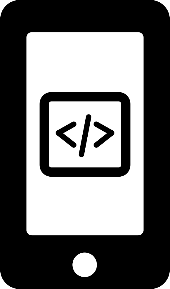 Code Symbol Button On Phone Screen