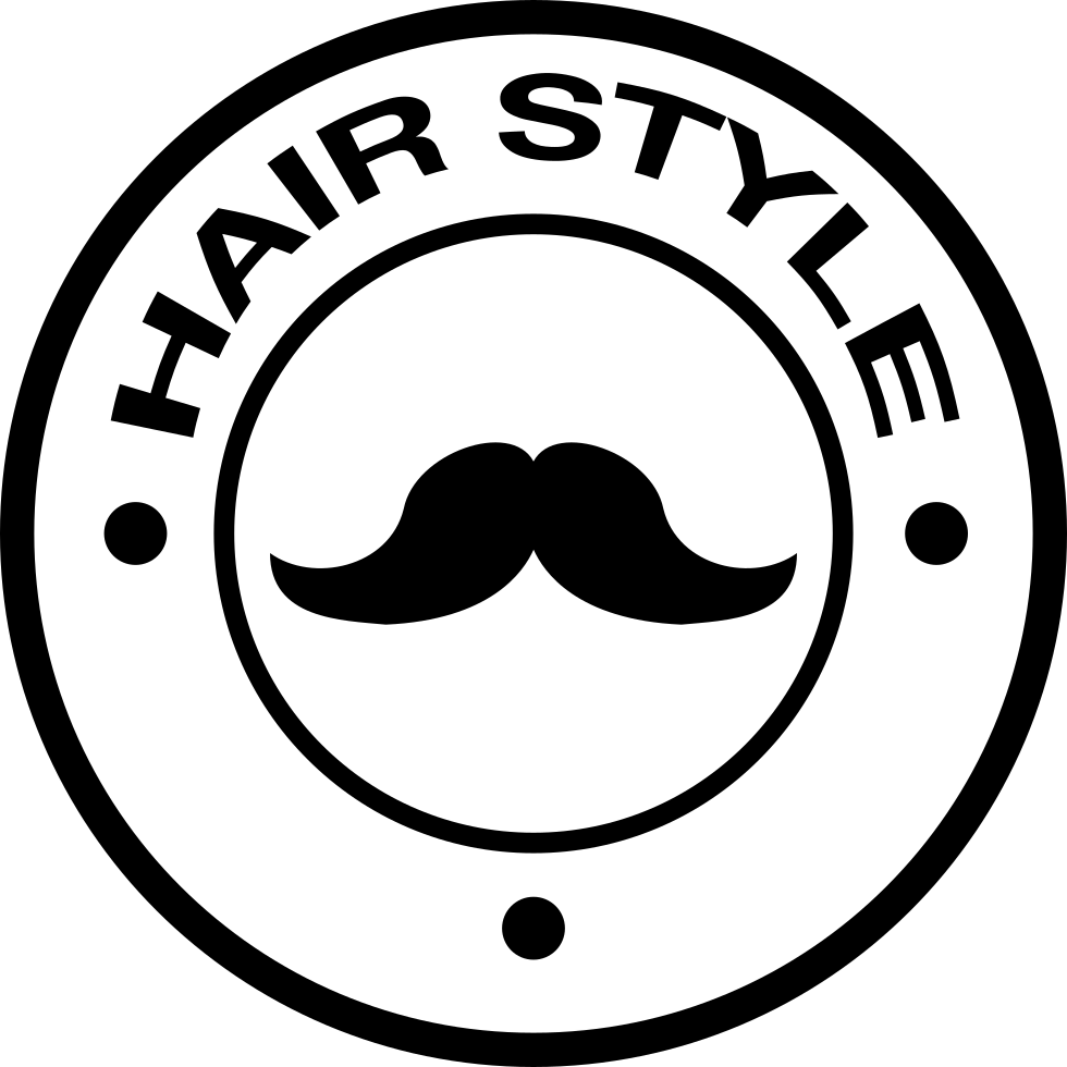 Hair Style Badge With A Mustache
