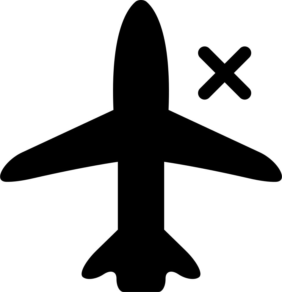 Airplane Sign With A Cross For Phone Interface
