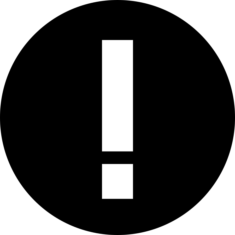 Exclamation Warning Sign In A Circle
