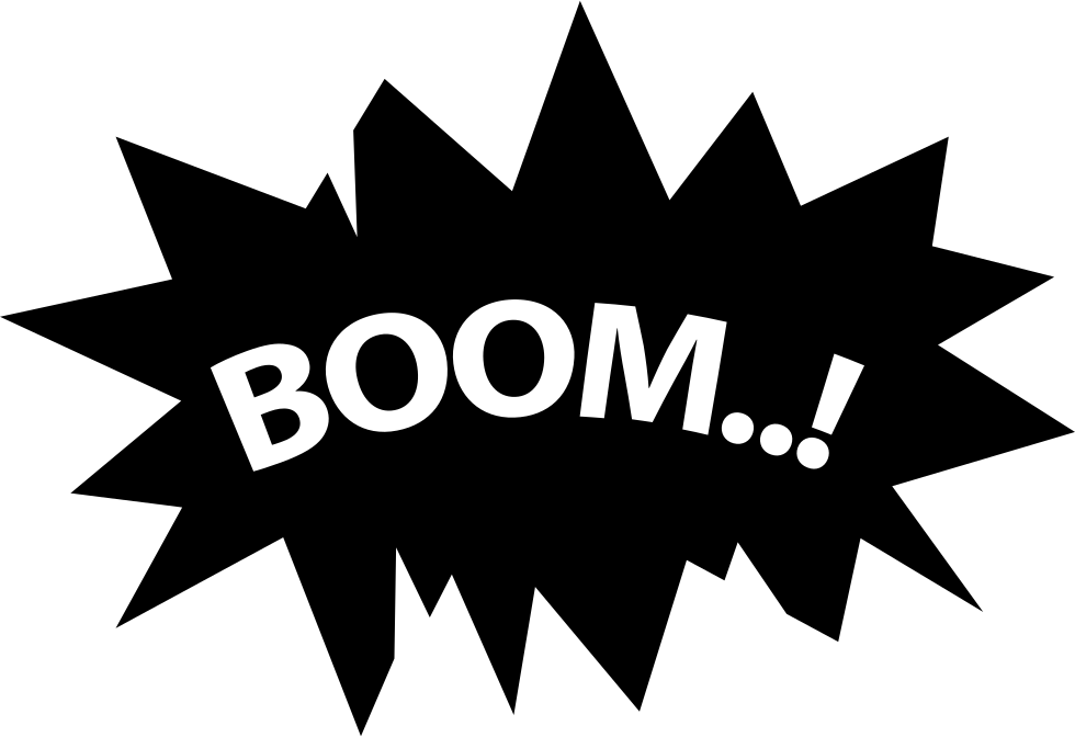 boom svg png icon free download   26618