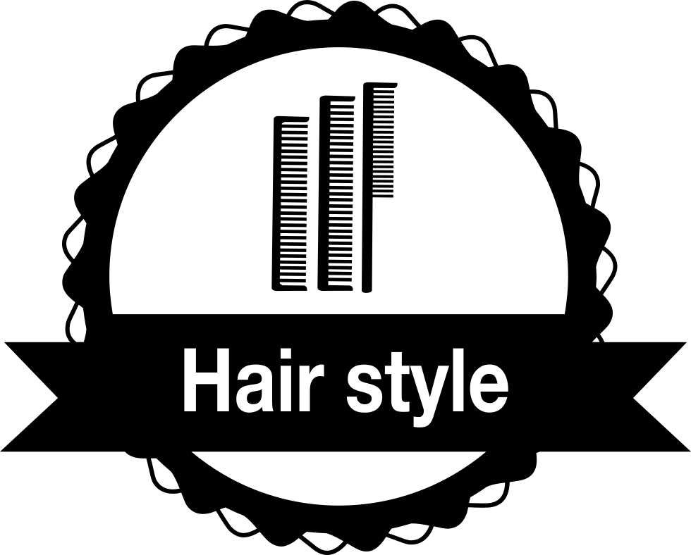Hair Style Badge With Combs