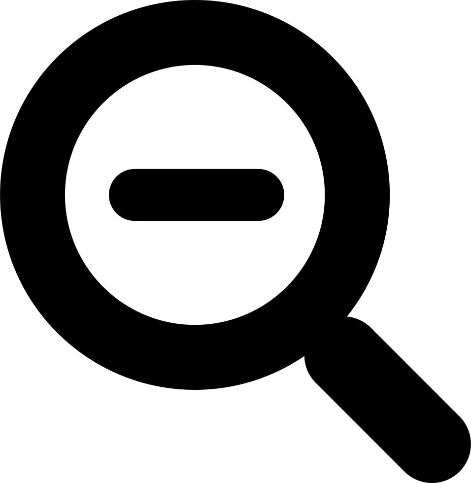 Magnifying Glass With Minus Sign