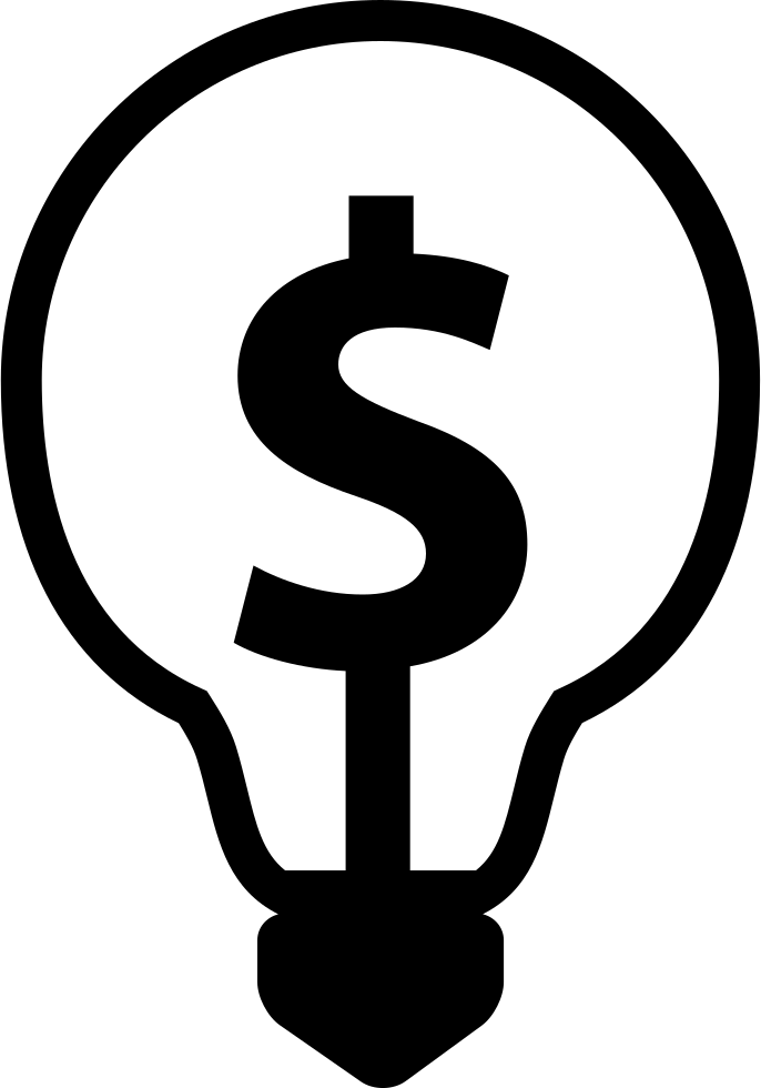 Dollar Symbol Inside A Light Bulb