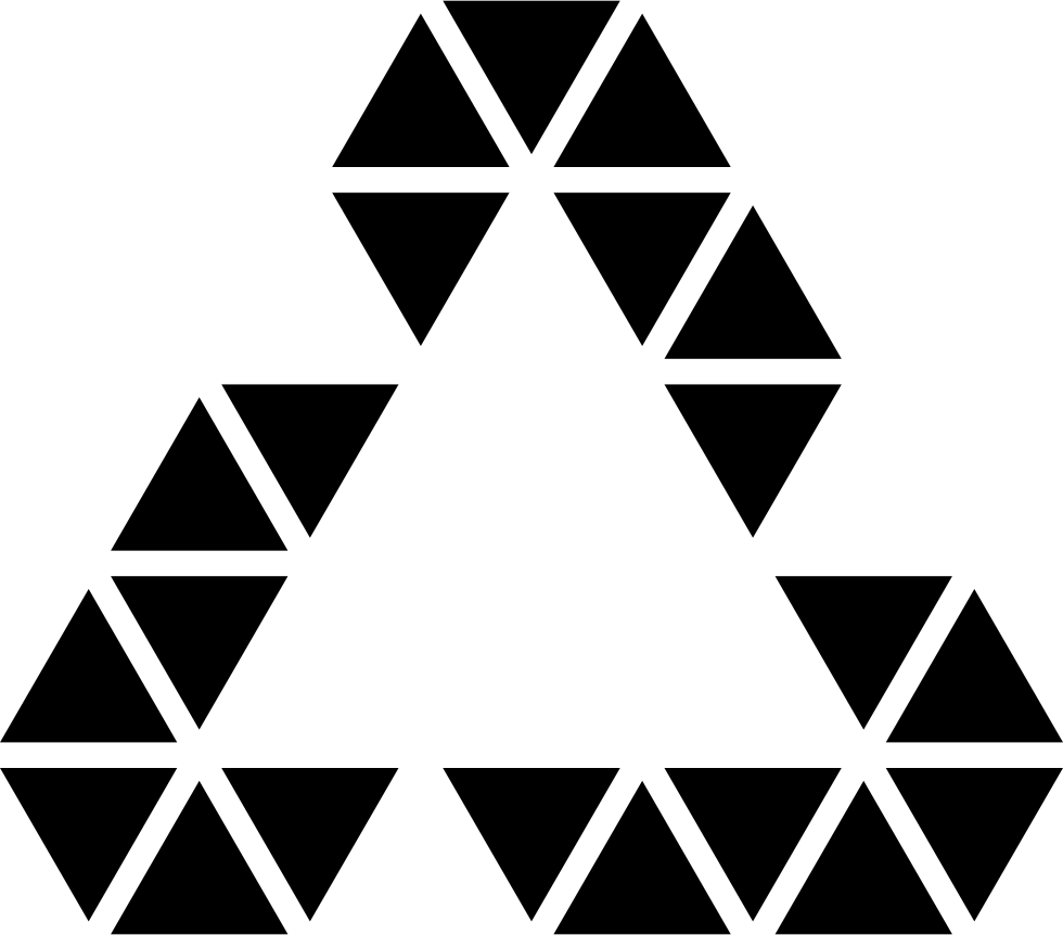 Polygonal Triangular Recycle Symbol