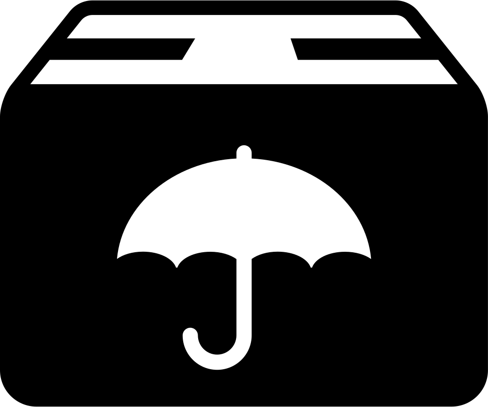 Delivery Package With Umbrella Symbol