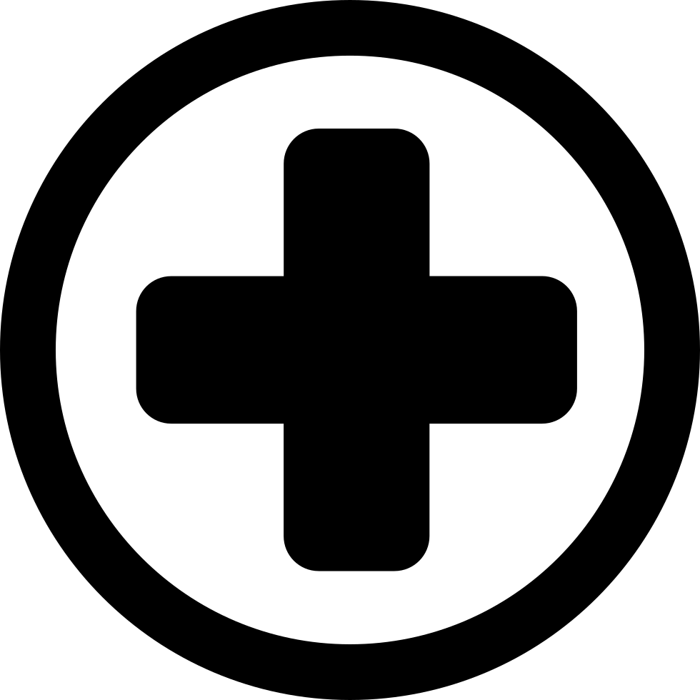 Hospital Medical Signal Of A Cross In A Circle