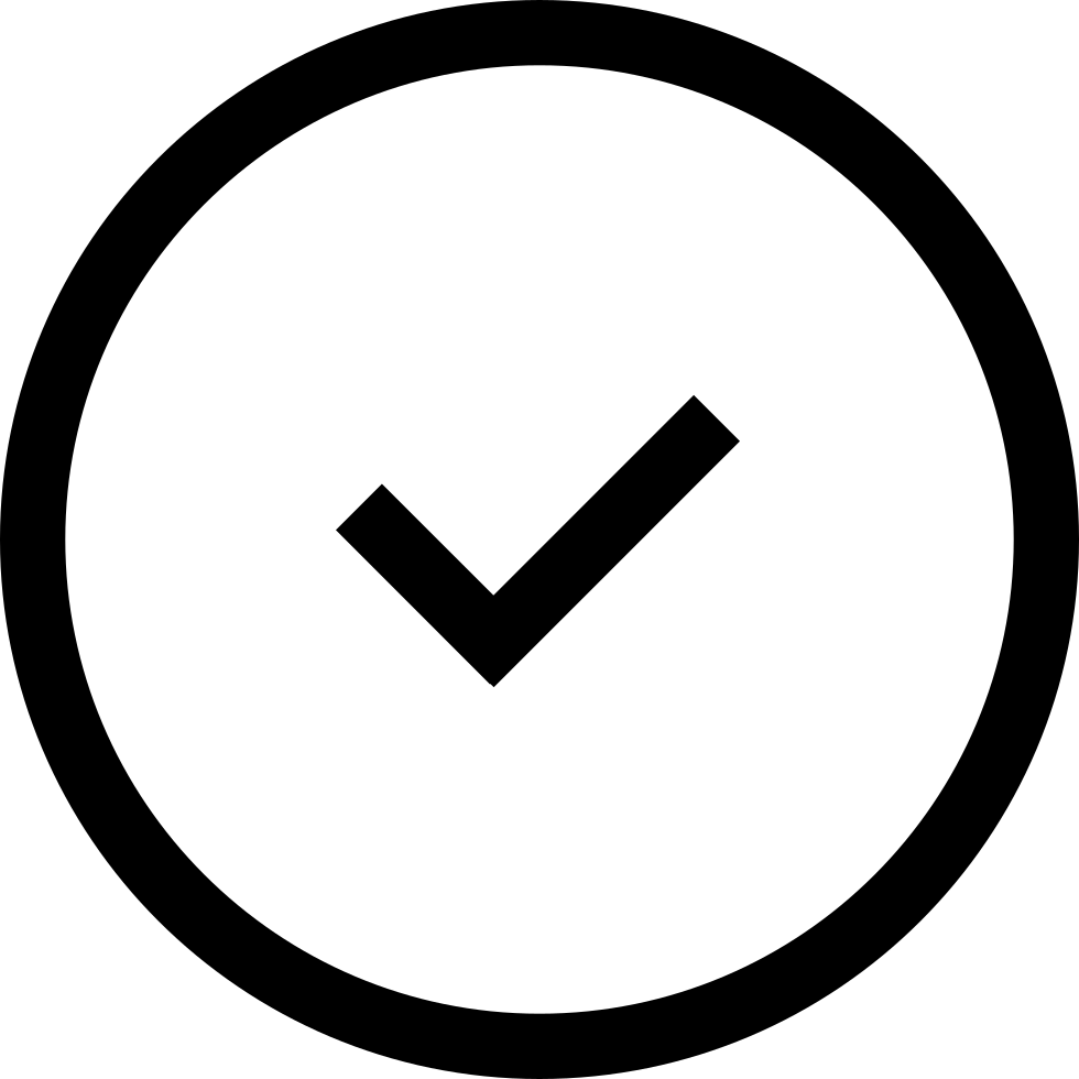 Verification Sign In A Circle Outline