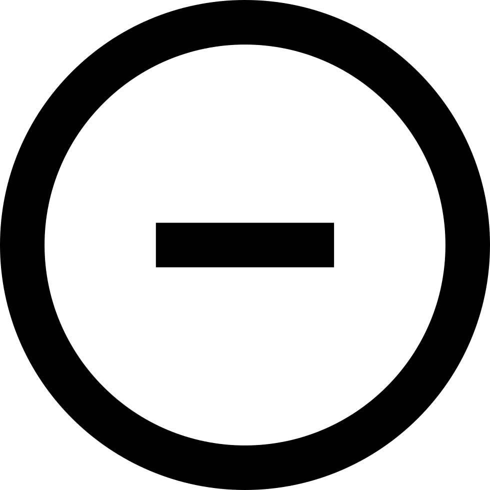 Minus Circular Button