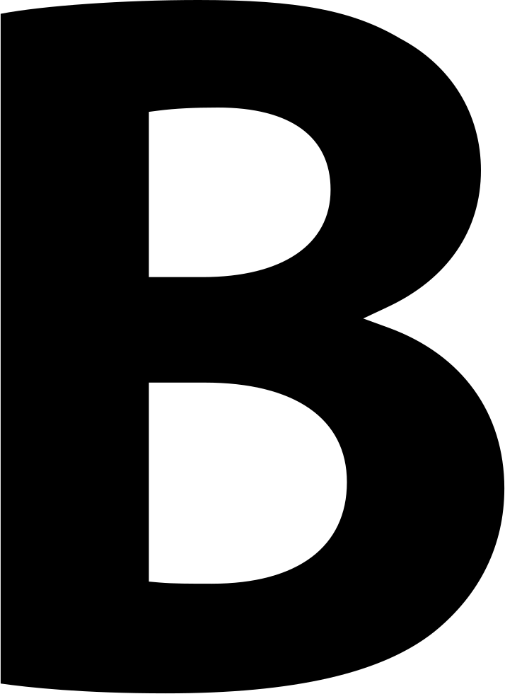 Bold Button Letter B Symbol Svg Icon Free Download