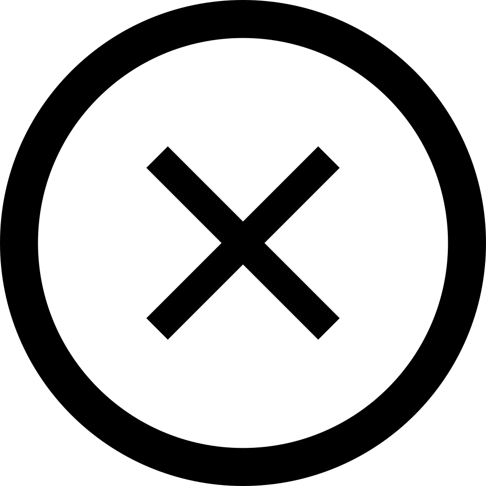 Cross In Circular Button