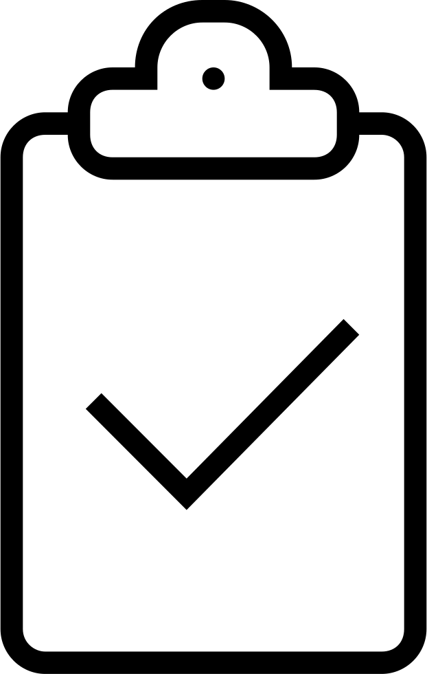 Clipboard Verification Stroke Interface Symbol