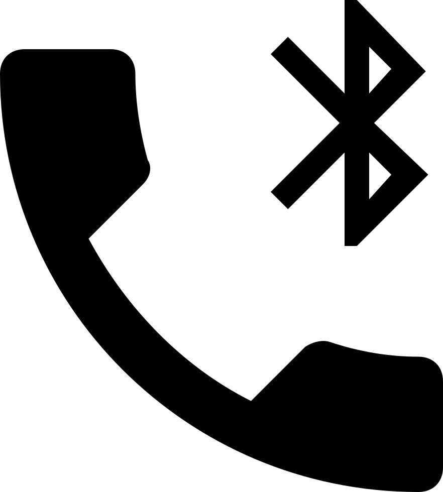 Phone Receiver With Bluetooth Sign