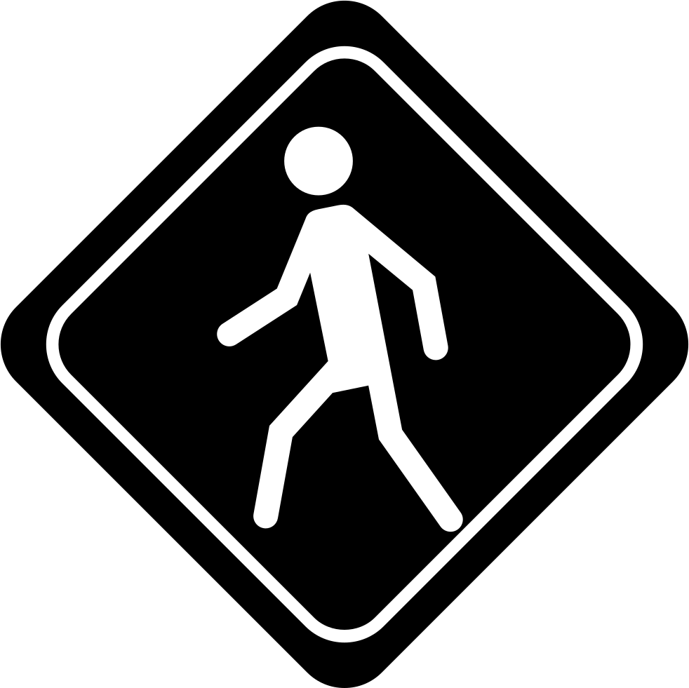 Walking Walker Traffic Signal Of Rhomb Shape