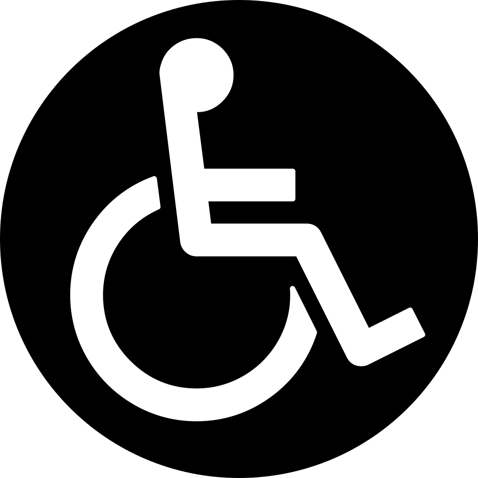 Discapacity Wheels Chair Circular Sign