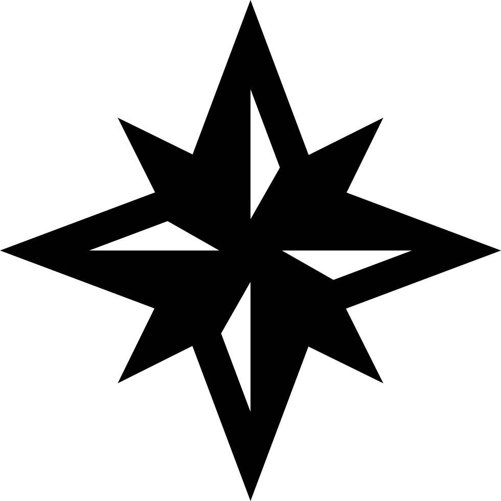 Compass Winds Star Symbol