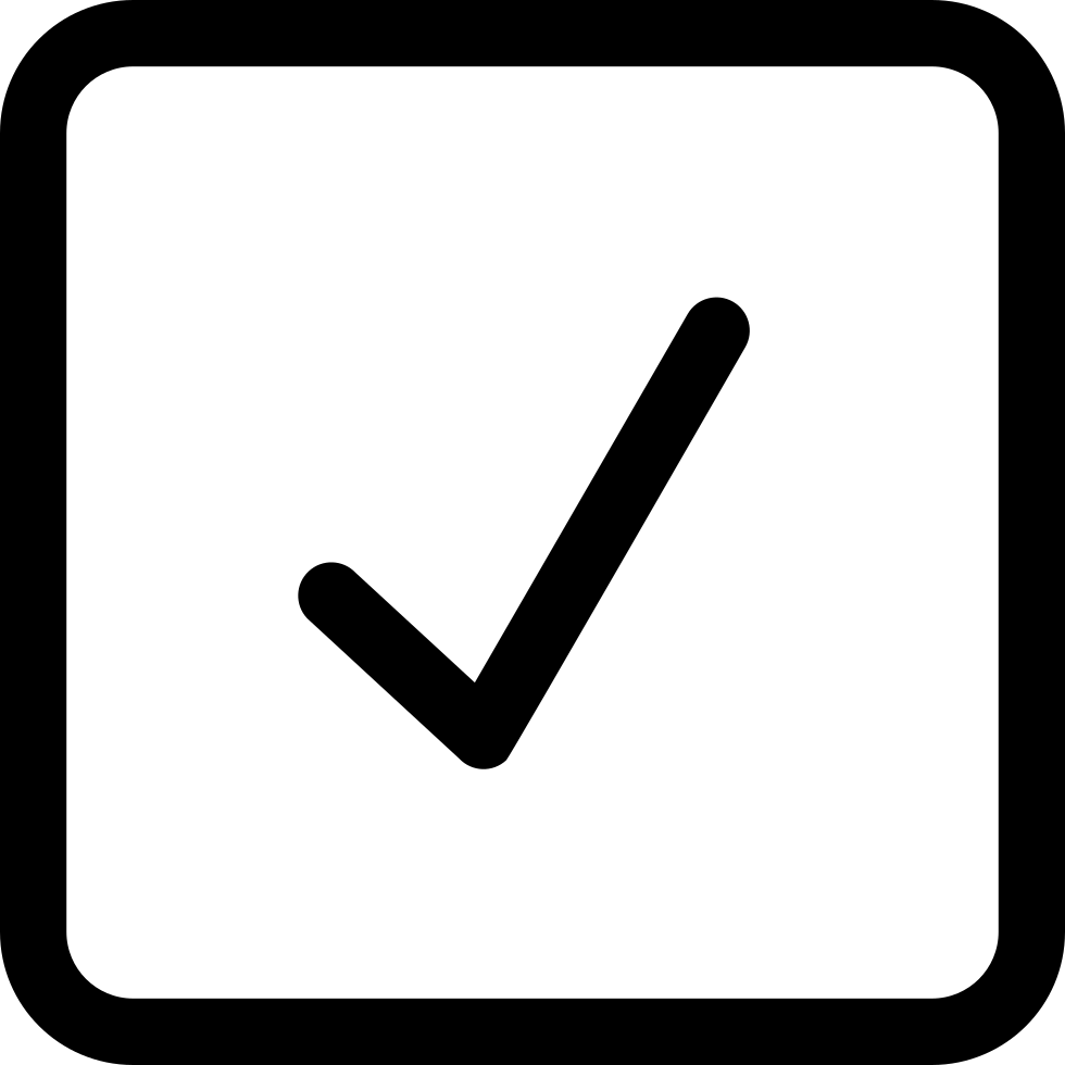 Checkmark Square Button Outline