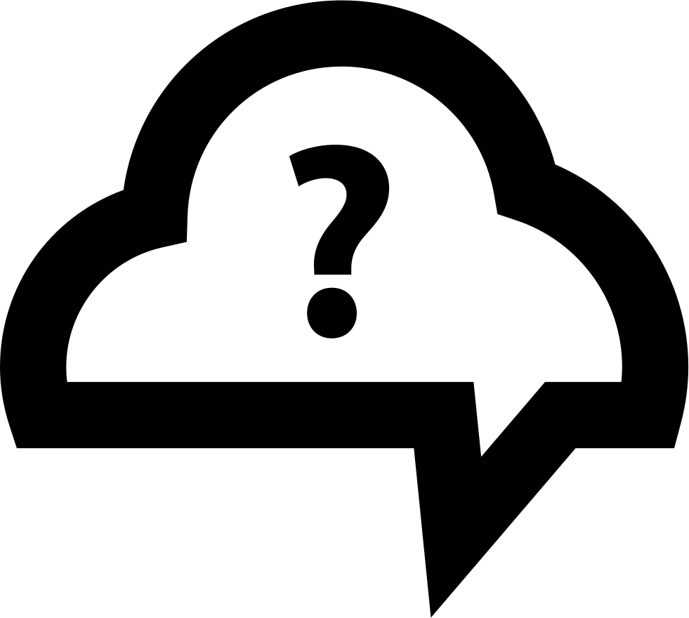 Speech Bubble Cloud With Question Mark